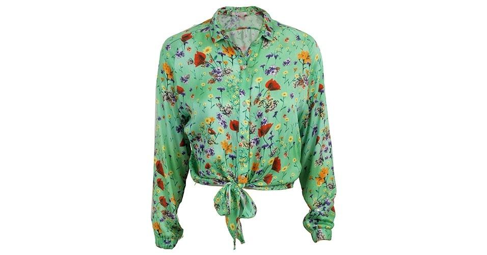 Camisa estampada com detalhe de amarração; R$ 249, na Eclectic (www.eclectic.com.br) Preço pesquisado em janeiro de 2014 e sujeito a alterações