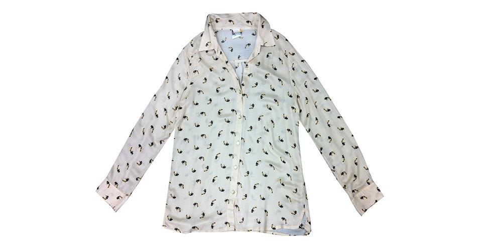 Camisa com estampa de tucanos; R$ 69,90, na Mercatto (www.modamercatto.com.br) Preço pesquisado em janeiro de 2014 e sujeito a alterações