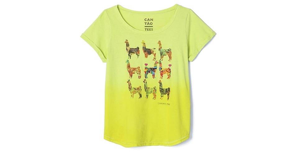 Camiseta com estampa de lhamas; R$ 139, na Cantão (www.cantao.com.br) Preço pesquisado em janeiro de 2014 e sujeito a alterações