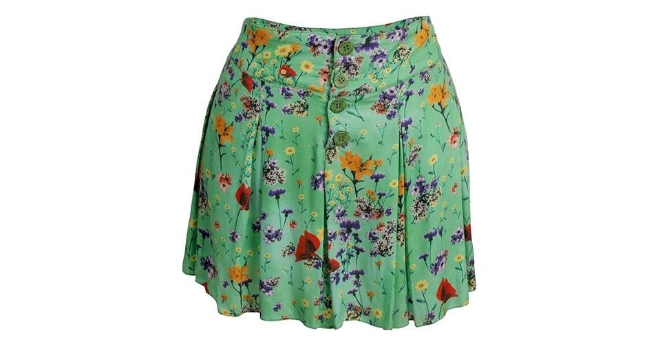 Saia com estampa floral; R$ 219, na Eclectic (www.eclectic.com.br) Preço pesquisado em janeiro de 2014 e sujeito a alterações