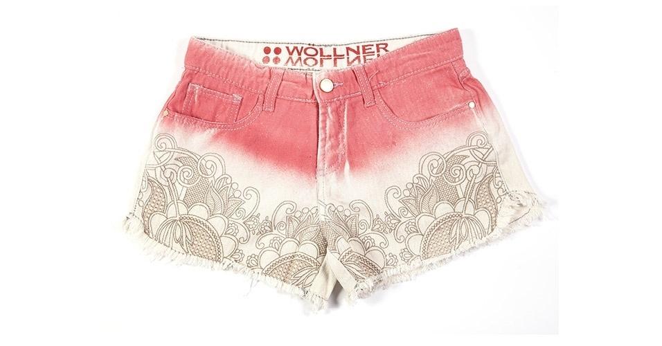 Short dip dye com barra estampada; R$ 189, na Wöllner (www.wollner.com.br) Preço pesquisado em janeiro de 2014 e sujeito a alterações