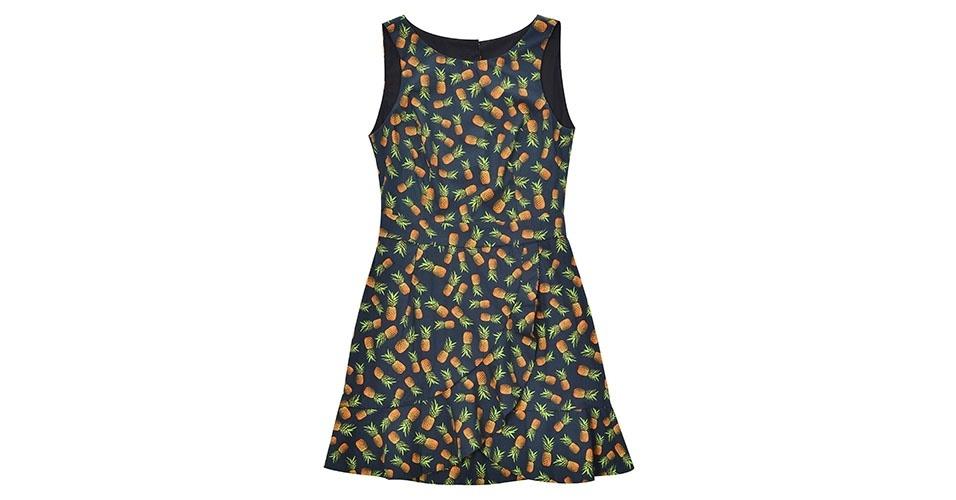 Vestido com estampa de abacaxis; R$ 269, na Dress To (www.dressto.com.br) Preço pesquisado em janeiro de 2014 e sujeito a alterações