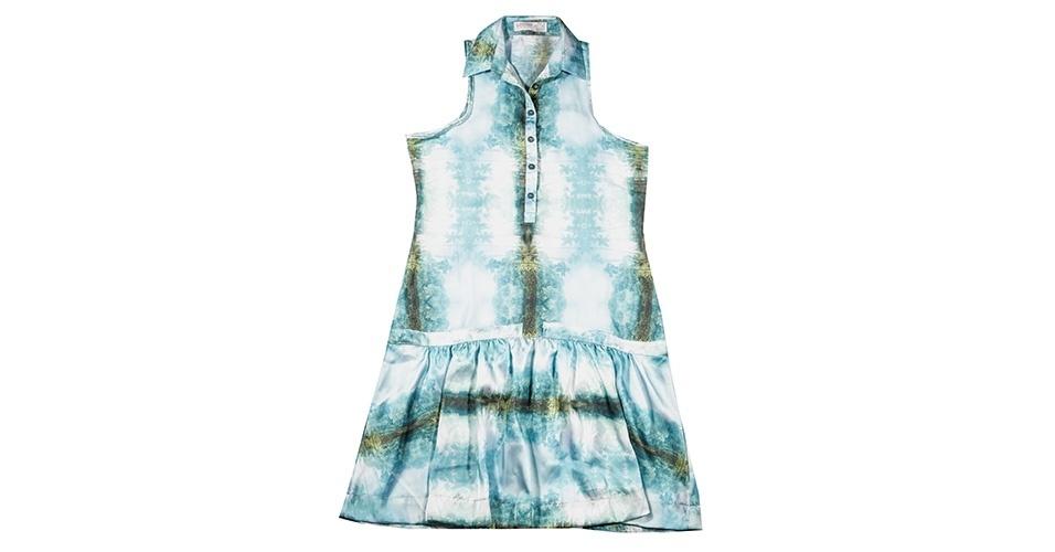 Vestido com estampa manchada; R$ 298, na Wöllner (www.wollner.com.br) Preço pesquisado em janeiro de 2014 e sujeito a alterações
