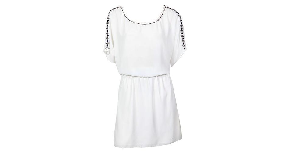 Vestido branco bordado; R$ 945, na Cavendish (www.cavendish.com.br) Preço pesquisado em janeiro de 2014 e sujeito a alterações