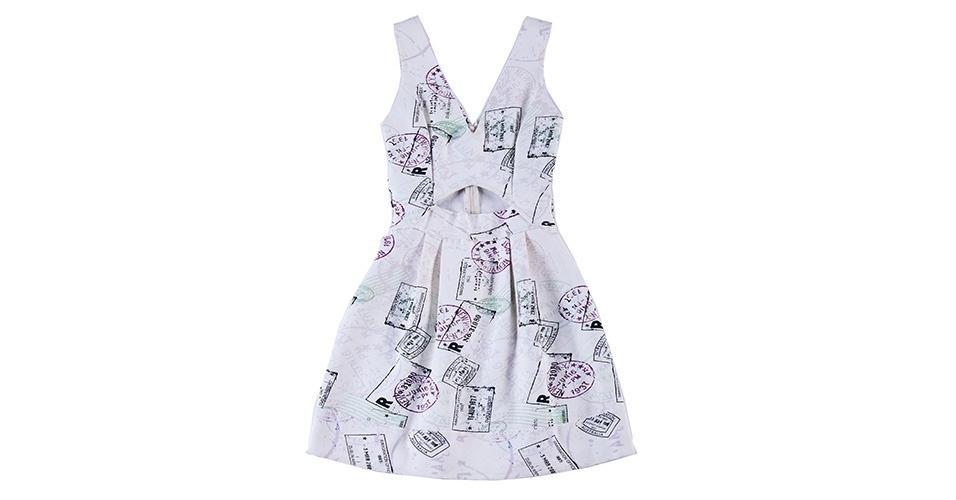 Vestido curto estampado; R$ 199, na Agatha (www.agatha.com.br) Preço pesquisado em janeiro de 2014 e sujeito a alterações