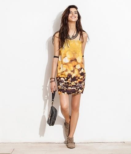 Vestido com estampa de conchas; R$ 278, na FYI (Tel.: 21 2239-6383) Preço pesquisado em janeiro de 2014 e sujeito a alterações