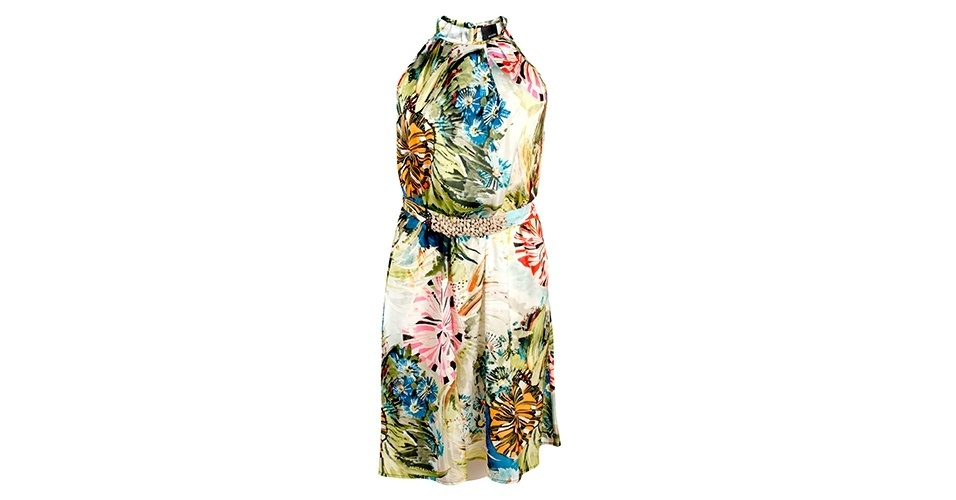 Vestido floral sem mangas; R$ 458, na Sacada (www.sacada.com) Preço pesquisado em janeiro de 2014 e sujeito a alterações