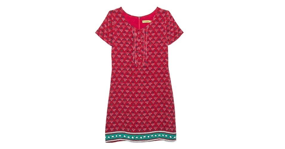 Vestido estampado com detalhe na barra; R$ 620, na Richards (www.richards.com.br) Preço pesquisado em janeiro de 2014 e sujeito a alterações