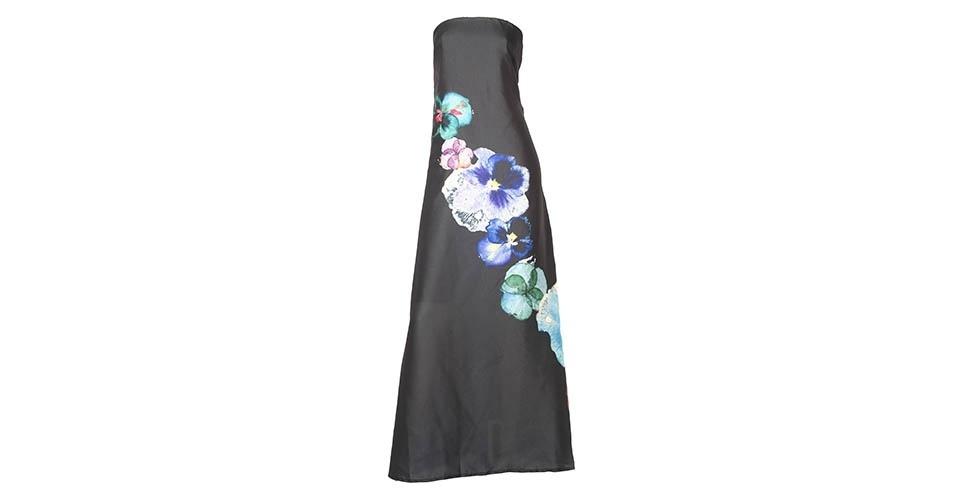 Vestido tomara-que-caia em seda com floral longo; R$ 319, na Wöllner (www.wollner.com.br) Preço pesquisado em janeiro de 2014 e sujeito a alterações