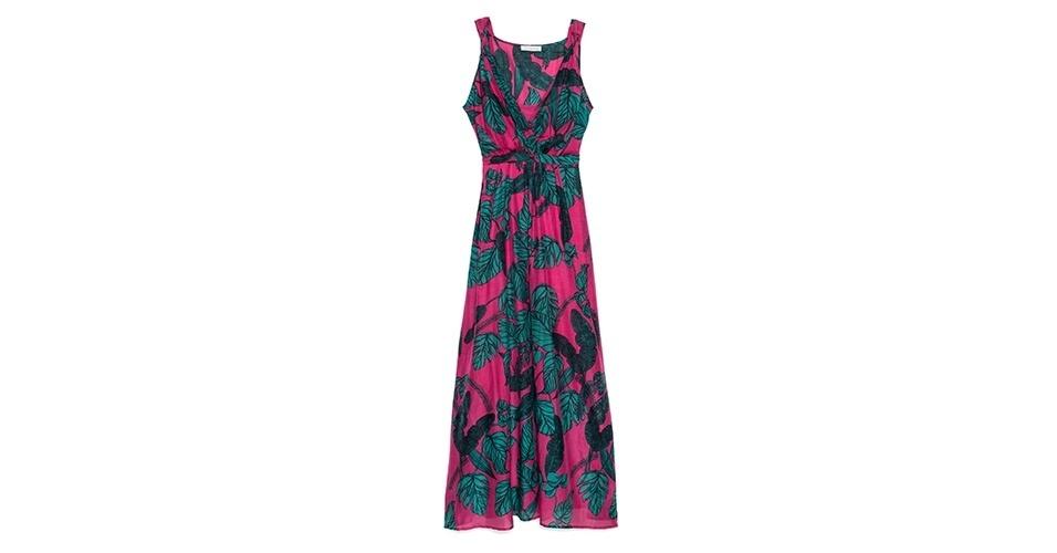 Vestido longo estampado; R$ 550, na Richards (www.richards.com.br) Preço pesquisado em janeiro de 2014 e sujeito a alterações