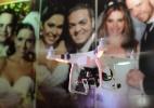 Drones divertem os convidados e garantem fotos em ângulos inusitados - Reinaldo Canato/UOL/Foto Studio Equipe