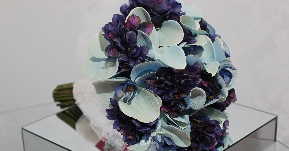 Expo Noivas & Festas no Centro de Exposições Imigrantes, em fevereiro de 2014: buquê de flores de silicone do Atelier Aline Rosa (www.atelieralinerosa.com.br)
