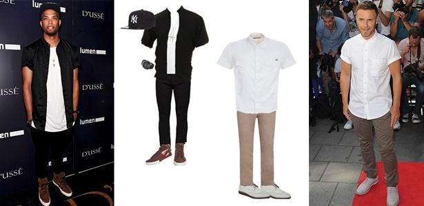 Camisas de manga curta ficam bem em combinações casuais e também mais arrumadas