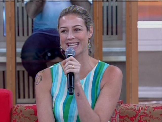 11.fev.2014 - Luana Piovani durante participação do