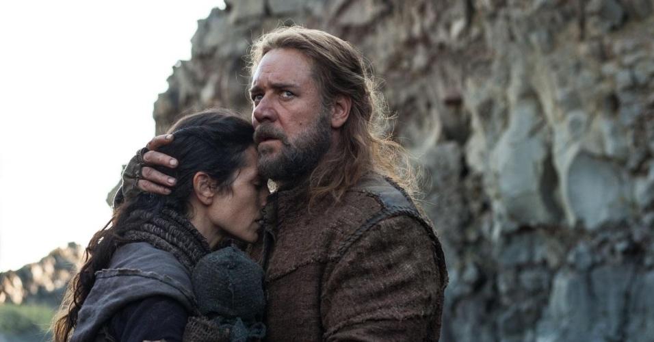 "Jennifer Connelly e Russell Crowe em ""Noé"", de Darren Aronofsky"