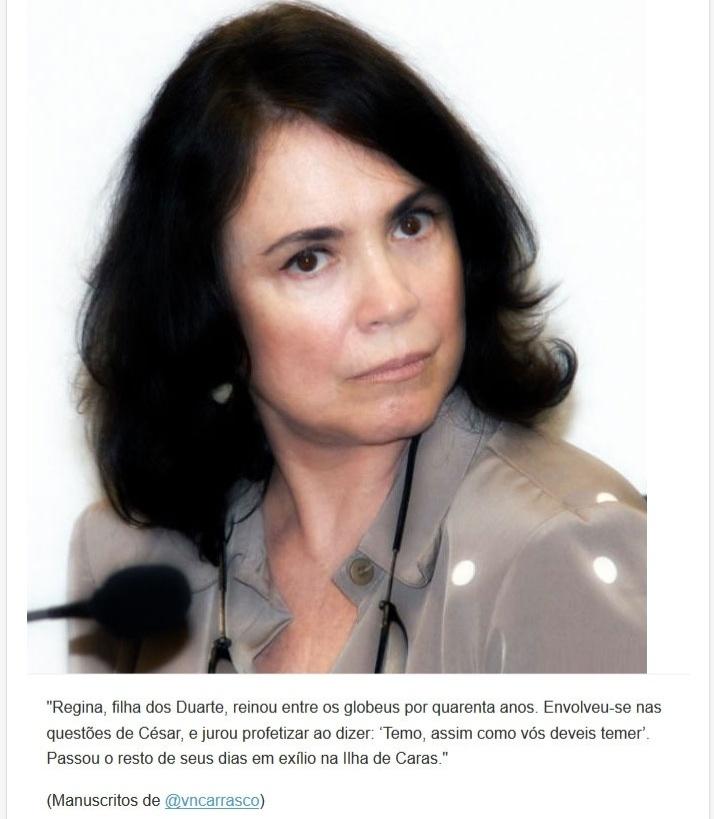 Versículo sobre o medo de Regina Duarte