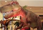 Exposi��o traz r�plicas de dinossauros que se movem e emitem sons
