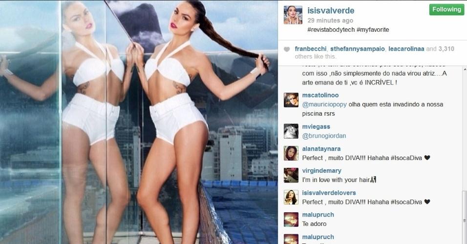 Após vídeo de Grazi Massafera, Isis Valverde usa Instagram para publicar foto sua em ensaio para revista