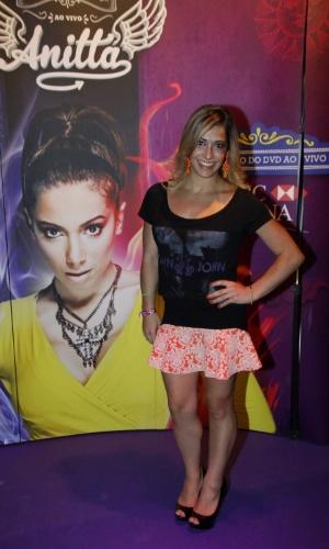 15.fev.2014 - Daniele Hypólito no show de gravação do 1º DVD da cantora Anitta. Com o tema