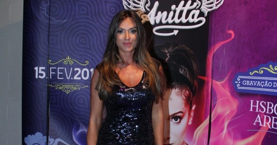 15.fev.2014 - Nicole Bahls no show de gravação do 1º DVD da cantora Anitta. Com o tema