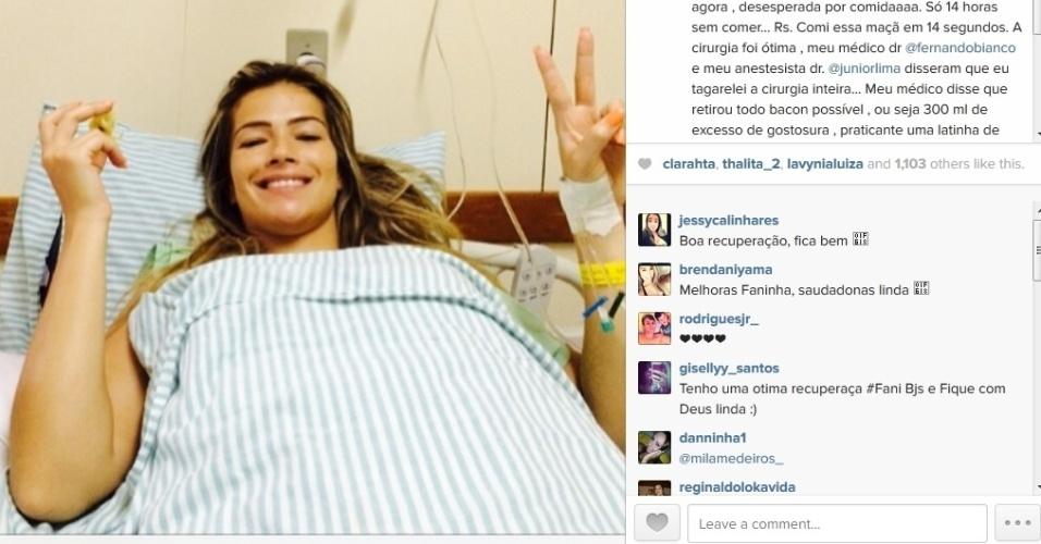 18.fev.2014 - Fani Pacheco bem após lipoaspiração