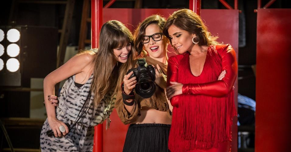 """""""Em Família"""", Marina faz sessão de fotos com Clara"""