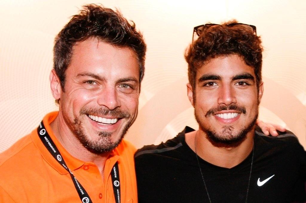 18.fev.2013 - Luigi Baricelli e Caio Castro prestigiaram o Rio Open, maior torneio de tênis da América do Sul, que acontece no Jockey Club Brasileiro, no Rio
