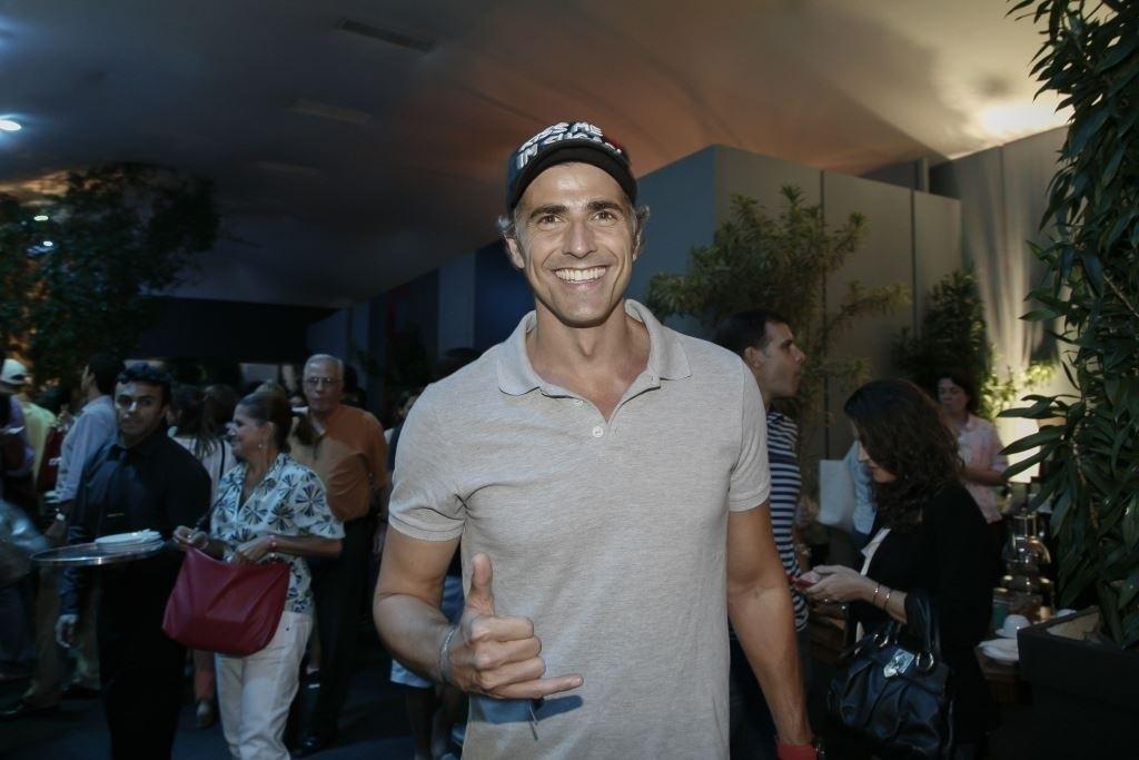 18.fev.2013 - Reynaldo Gianecchini prestigiou o Rio Open, maior torneio de tênis da América do Sul, que acontece no Jockey Club Brasileiro, no Rio