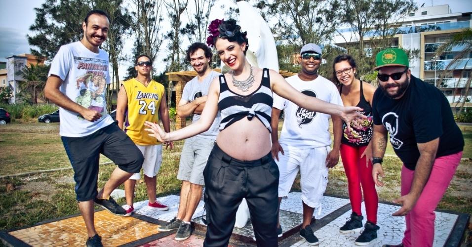 Fev.2014 - Lu Baratz e o Bloco Cru, do Rio de Janeiro