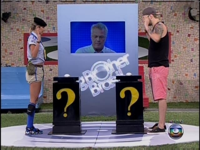 23.fev.2014 - Tatiele e Cássio disputam a prova