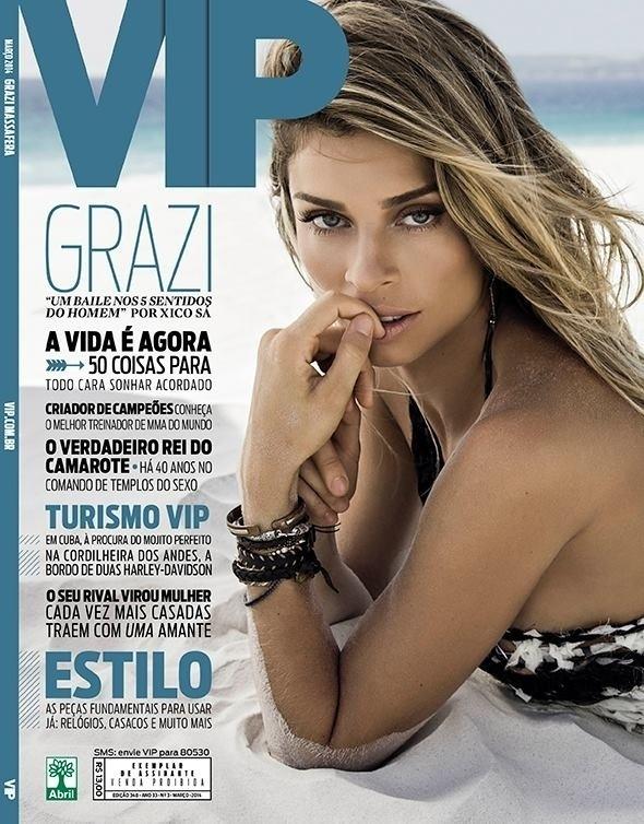 24.fev.2014 - Grazi Massafera estrela a capa da revista