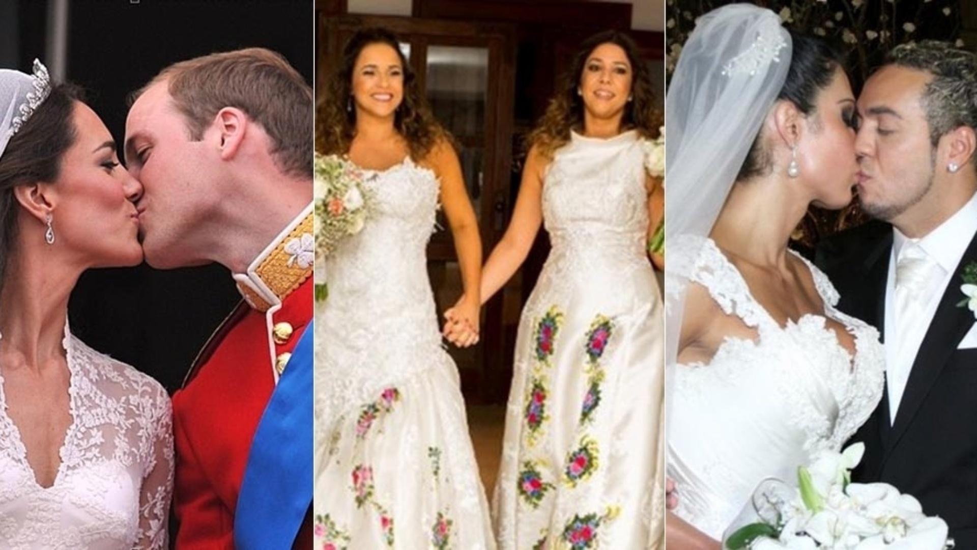 Montagem casamentos midiáticos