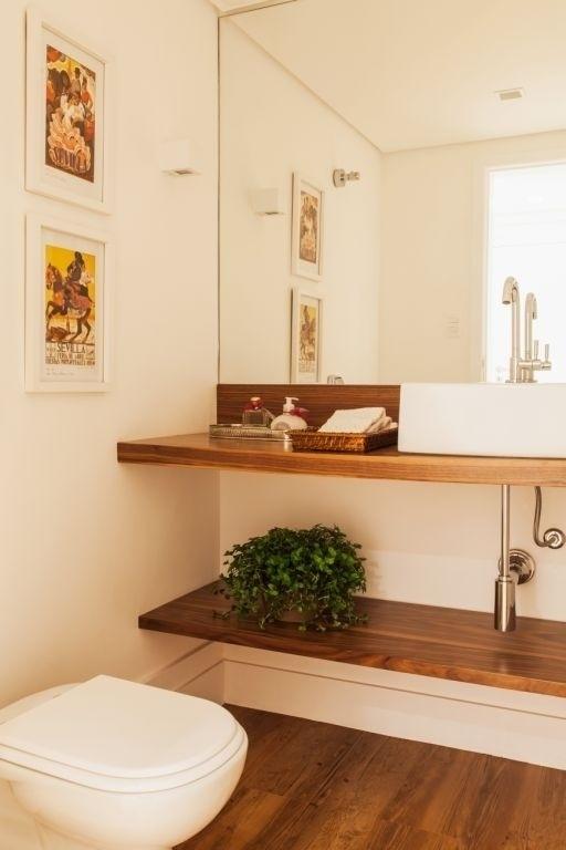 Divulgação -> Como Colocar Pia De Banheiro Na Parede