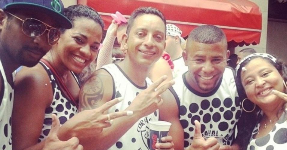 1.mar.2014- Desfile do Cordão da Bola Preta reúne milhares de foliões no Centro do Rio