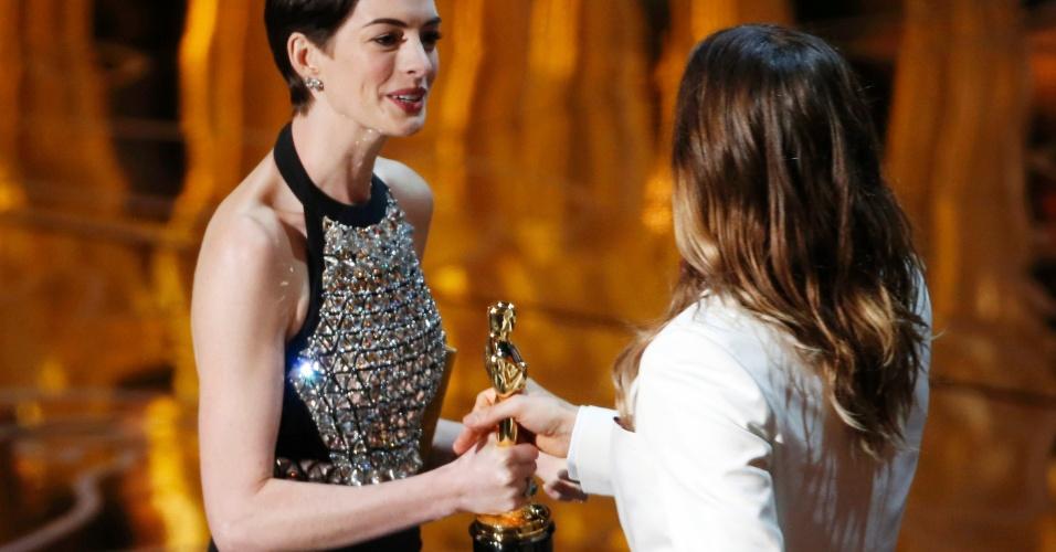 Anne Hathaway e Jared Leto Oscar 2014