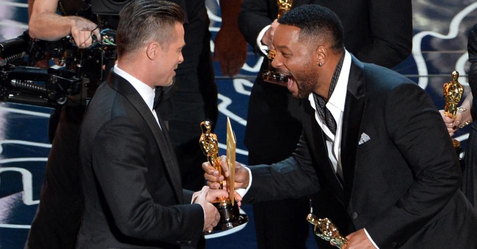 """Brad Pitt Will Smith """"12 Anos de Escravidão"""" Oscar 2014"""