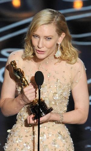 """Cate Blanchett ganhou o Oscar de Melhor Atriz por """"Blue Jasmine"""""""