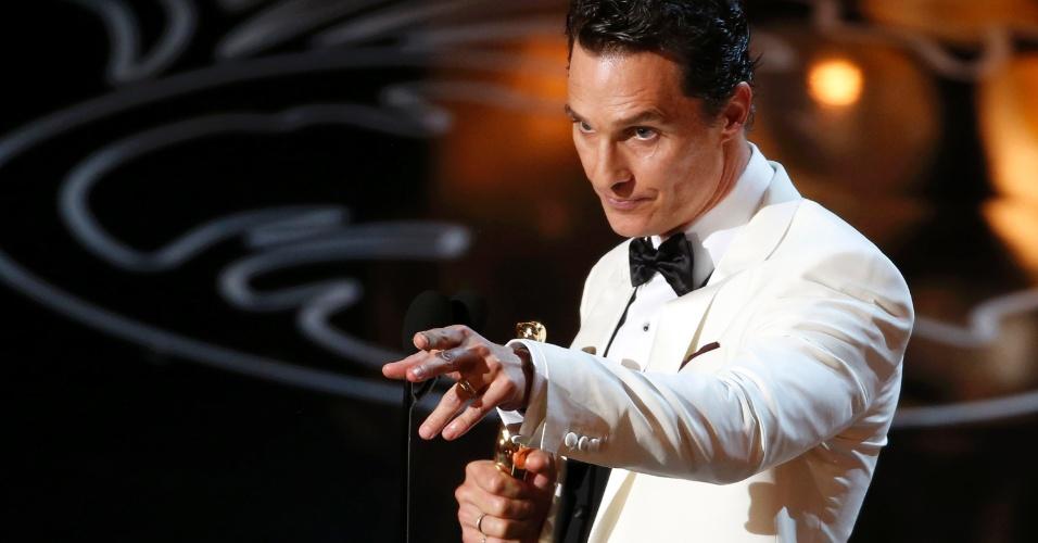 Matthew McConaughey agradece pelo prêmio de Melhor Ator no Oscar 2014