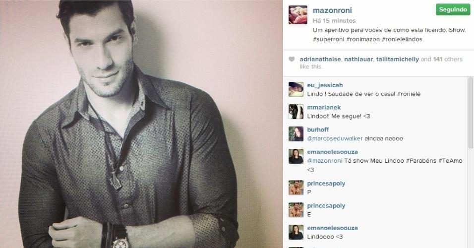 4.mar.2014 - Em outro post, Roni revelou uma das fotos que fez no ensaio.