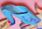 Use sucata para fazer um sapatinho da Cinderela