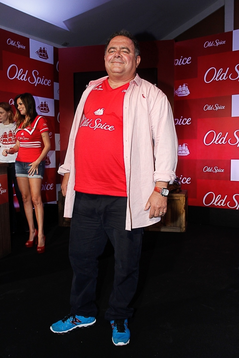 12.mar.2014 - Léo Jaime participou do lançamento de uma marca de desodorante masculino, em São Paulo