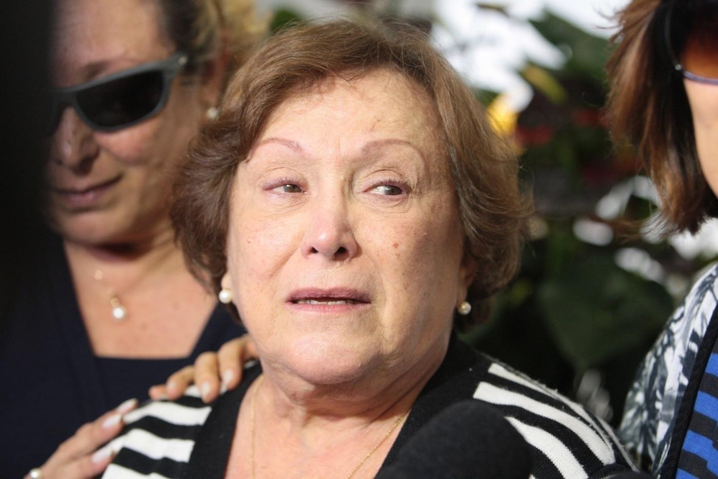 13.mar.2014- Emocionada, Nicette falou sobre a perda do marido, Paulo Goulart, com quem teve um casamento de 60 anos