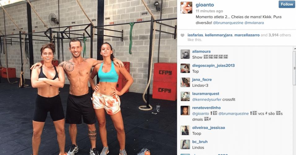 16.mar.2014 - Giovanna Antonelli divulgou imagem de treino onde aparece acompanhada de Bruna Marquezine. As atrizes que estão no elenco de