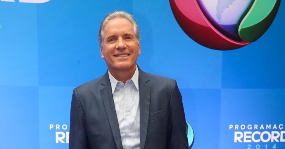 18.mar.2014 - Roberto Justus, apresentador de