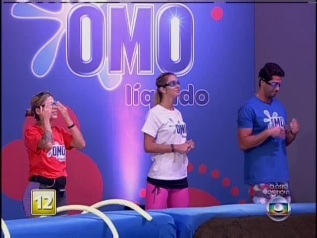 20.mar.2014 - Marcelo, Tatiele e Vanessa participam da prova do líder, nesta quinta (20)