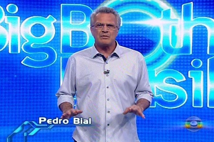 21.mar.2014 - O apresentador Pedro Bial inicia a edição desta sexta-feira, que irá definir o paredão surpresa