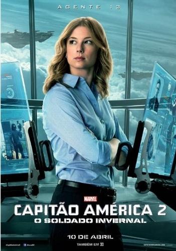 """Novo cartaz de """"Capitão América 2: O Soldado Invernal"""" mostra Emily VanCamp (da série """"Revenge"""") como Sharon Carter, a Agente 13"""