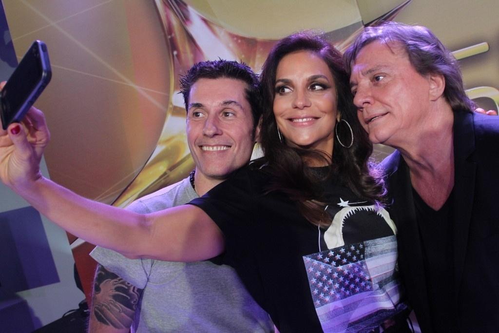 26.mar.2014 - Ivete Sangalo, Dinho Ouro Preto e Fábio Jr. são os jurados do