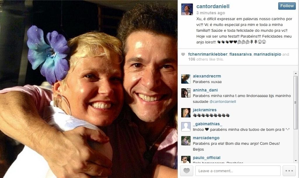 27.mar.2014 - O cantor Daniel fez uma homenagem a Xuxa usando sua conta do Instagram: