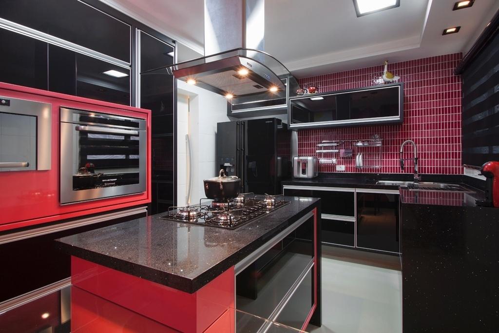 cozinha americana com granito verde ubatuba